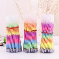 Wholesale gel highlighter pens for sale - Group buy Multi Color Rainbow Refill Highlighters Gel Pen Ball Point Pen Students Painting Graffiti Fluorescent Refill MM