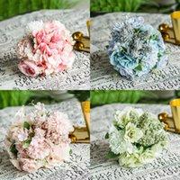 estoque de broches venda por atacado-Os mais recentes Beautiful Wedding Bouquets de noiva com flores Handmade Peals Rhinestone Rose Wedding fornece terra arrendada da noiva broche Bouquet Em armazém