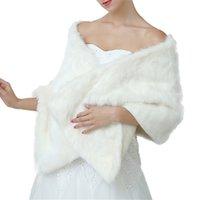 ingrosso lana invernale abito da sposa-Scialle lungo da sposa scialle Abito da sposa Cappotto bianco Scialle di lana invernale Pianura Sciarpe calde