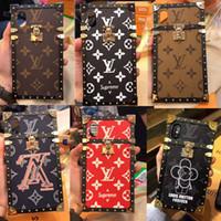 estojos de metal para telemóvel venda por atacado-Marca de design de metal 2-em-1 tampa da caixa do telefone móvel para o iphone XS Xr X 7 7 plus 8 8 plus 6 6 plus
