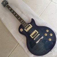 ligação da guitarra do bordo venda por atacado-Alta qualidade feito à mão guitarra elétrica, EBONY Transparente preto burst maple top guitarra elétrica com ligação de madeira, frete grátis
