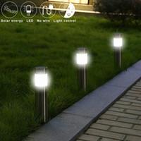 Wholesale outdoor garden solar plug resale online - 100lm Waterproof Solar Lights Plug in Ground Type Garden Decorative Solar Power Outdoor Yard Path Lawn Lamps