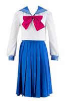 Wholesale full moon cosplay online - Sailor Moon Tsukino Usagi Mercury Cosplay Costume Set