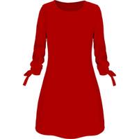 270450fcc79 Wholesale plus size ol dress online - 2019 Spring New Fashion Elegant OL  Solid Color Dress