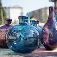 vases faits à la main achat en gros de-Style américain Creative bulle vase en verre hydroponique De table petit vase Artistique fait main verrerie moderne vases à la maison décor