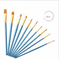 Wholesale pen rod set for sale - Group buy 2019 new Blue rod nylon hair multi function hook line gouache watercolor oil brush set