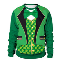 Wholesale St Patrick sDay streetwear tracksuit men Party gentleman suit vetements Irish Festival Clothing Spring Couple luxury designer sweatshirt