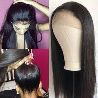 brezilya insan saçı dantel ön peruk toptan satış-360 Dantel İnsan Saç Peruk Düz İnsan Saç Dantel Açık Peruk% 150 Yoğunluk Remy Virgin Brezilyalı Saç