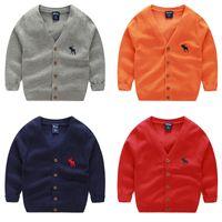 трикотажная детская одежда для девочек оптовых-Детская мода свитер детский кардиган мальчики девочки вязаные свитера весна верхняя одежда свитер детская одежда 2-7лет