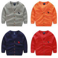 Wholesale knitted baby boys clothes resale online - Baby Fashion sweater kids Cardigan Boys Girls Children Knit Sweaters spring Outerwear sweater Baby Clothes years