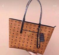 фарфора соломы оптовых-Ss19 новые сумки для покупок Visetos напечатал холст из этой совершенно новой сумки для покупок Anya со структурой молнии, прикрепленной к бирке 36 * 30см