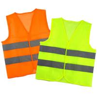chalecos de saneamiento al por mayor-Reflexivo raya tráfico chalecos de seguridad de alta visibilidad chaleco para Empleado de Sanidad Auxiliar de Policía de Trabajo Ropa LJJA3545-2