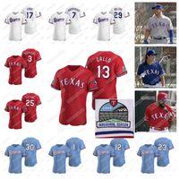 Wholesale baseball jerseys texas for sale - Group buy Texas INAUGURAL Season Rangers Joey Gallo Shin Soo Choo Corey Kluber Danny Santana Elvis Andrus Rougned Odor DeShields Jersey