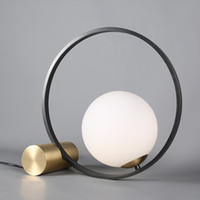 Creative modern minimalist bedroom study office bedside table light living room Nordic post-modern minimalist table lamp