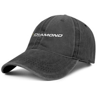Wholesale hat diamond logo for sale - Group buy Womens Mens Flat along Adjustable Diamond Archery Logo Hip Hop Cotton Strapback Hat Golf Flat Top Hat Airy Mesh Hats For Men Women Black
