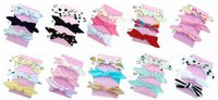 Wholesale solid color head bandanas resale online - 20pcs girl baby headwear cotton Turban Twist Hair band Head wrap Twisted Knot Soft stripe Headband Polka dot Headwrap accessories FD6554