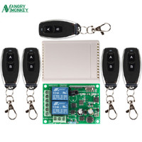 Wholesale 433Mhz Universal Wireless Remote Control Switch AC V V V CH Relay Receiver Module and RF Mhz Remote Controls
