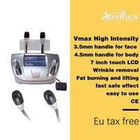 máquina de ultra-som para beleza venda por atacado-2018 Novo Vmax Ultra-sônico hifu Cartucho corpo lifting facial Beleza pele endurecimento anti-envelhecimento rugas Máquina Equipamento