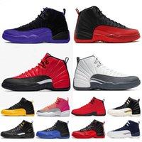 Wholesale 12 basketball shoes for sale - Group buy Fashion s Basketball Shoes Men GAME Gym Red Bulls University Gold TAXI Mens fashion Trainer Sports Sneakers Size