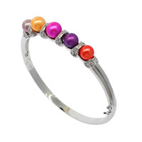 Wholesale pearl bracelets for sale - 925 silver inlaid natural freshwater pearl bracelet mm colored pearl jewelry female models luxury exquisite holiday gifts