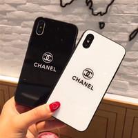 güzel telefon kapakları toptan satış-Güzel Lüks Kadınlar Tasarımcı Telefon Kılıfları Moda Kapak IPhoneX 7 Artı 8 P 7 8 6 P 6SP 6 6 S Mektup Marka Sıcak Satış BeyazSiyah