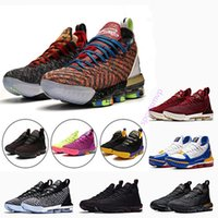 Wholesale 2019 THRU LMTD Starting Oreo FRESH BRED What the XVI james Multicolor Basketball Shoes LeBRon s Wolf Grey Sports