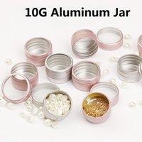 botella de aluminio vacía al por mayor-Tarro 10 g de aluminio vacía envase cosmético lata redonda de aluminio puede clavar Botella Decoración artes del pote