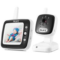 grabadora dvr de 1 canal al por mayor-Inlife BM35Q Video Baby Monitor Cámara Night Vision Light Lullaby Alarm