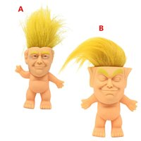 Wholesale child long hair resale online - 2020 Donald Trump Troll Doll Funny Trump Simulation Creative Toys Vinyl Action Figures Long Hair Dolls Funny Hand Play Toy For Children