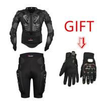 guantes de moto armadura al por mayor-HEROBIKER Motocross Profesional Motocicleta todoterreno Chaqueta de armadura de cuerpo completo Moto Ropa protectora Pantalones Guantes de la pierna regalo