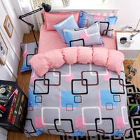 edredones 3d para camas al por mayor-Juegos de sábanas King o Queen Size Sábanas Sábanas 4 piezas Edredón Edredones de cama de lujo Juegos de colcha