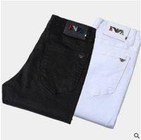 hot jean célèbre achat en gros de-Vente chaude Mens Designer Jeans Slim Fit élastique Patchs droites Cowboy Célèbre classique jeans Casual Pantalon