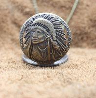 indischen kettenentwurf für männer großhandel-Retro antike indische alte Mann Porträt Design Gesicht Quarz Taschenuhr normale Halskette Kette Uhren männliche Uhr beste Geschenke