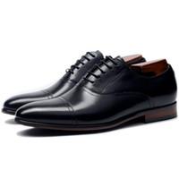 ingrosso scarpe da sera in pelle-Abito da uomo Oxfords Punta tonda Eleganti scarpe da sera da sera Scarpe da lavoro in pelle formale Scarpe da ballo