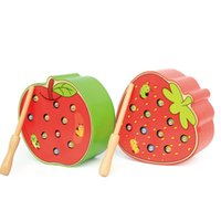 Wholesale games catch for sale - Group buy Strawberry Apple Shaped Toy Catching Insects Game Magnetic Toys Early Education Gift For Baby Children Funny New oya D1