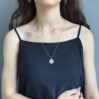 silber-dollar-armband großhandel-Koreanische 925 Sterling Silber Retro alten Dollar Runde Münze Anhänger lange Halskette Armbänder Armband Herren Armbänder Liebe Armband
