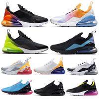 ingrosso donna sneaker floreale-Nike Air Max 270 Shoes Scarpe da corsa uomo SE Nero Multi SOUTH BEACH Triple Nero Bianco CNY Throwback Future Donna Uomo Traners Scarpe da ginnastica sportive 36-45