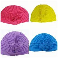 chapéus de senhoras de poliéster venda por atacado-Índia Senhoras Yoga Cap Cor Pure Ventilação Força Elástica Fibra De Poliéster Anti Desgaste Do Chapéu Macio Portátil Confortável Nova Chegada 2 09tt I1