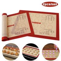 Wholesale stick silicone baking mat set for sale - Group buy 2Pcs set Non stick Macaron Baking Mat Silicone Mats Baking Liner Heat resistant Baking Sheet Set Pastry Tools
