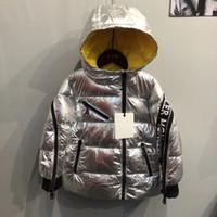 chaquetas de pana para niños al por mayor-2 colores Niños Abrigos de invierno Niños Niñas Niños Chaquetas Ropa de abrigo Moda Pana Niñas Parka Gruesa Ropa de abrigo