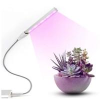3w led ışık mavi büyümüş toptan satış-Fito lamba 10 Kırmızı + 4 Mavi DC5V 3 W Ayarlanabilir Büyümek led tam spektrum led bitki ışık büyümek 2835 led bitki Büyümek Tüp ışıkları