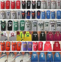 Wholesale men s basketball 13 online - 2019 Earned City Edition Westbrook D Angelo Russell Paul George Chris Paul LeBron James Harden Giannis Antetokounmpo Jerseys