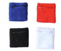 havlu bilekliği toptan satış-Erkekler ve kadınlar Spor Güvenlik Bilek Desteği için Açık iyi Modaya yüksek son fermuarlı cebi havlu spor sıcak bileklik spor koruyucusu