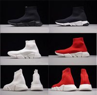 designer de luxo sapatos vestido de marca venda por atacado-2019 Marca Desconto Sapatos Meias Chaussures Moda Designer De Luxo Red Bottoms Shoe Branco Preto Vestido De Tênis De Luxe Das Mulheres Dos Homens Sapatos Casuais
