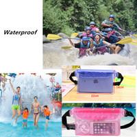 60d72043f Bolsa de plástico a prueba de agua Bolsa para nadar en la playa Cojín para  el teléfono Pertenencias Resistente al agua Almacenamiento de protección  Con ...