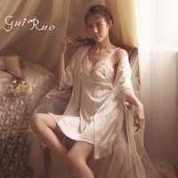camisón para chica sexy al por mayor-AEOZRING Sexy Pijama Girl Open Back Underwear Nightgown Suite Lace Sling Falda