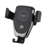 suporte para carregador de carro para samsung venda por atacado-Car mount qi carregador sem fio para iphone xs x xr 8 suporte de telefone do carro de carregamento rápido sem fio para samsung note 9 s9 s8