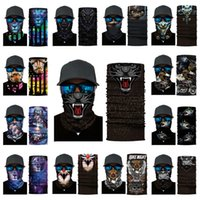 Wholesale multi function head scarf for sale - Group buy multi function Head scarf Tiger Print cycling masks animal skeleton magic scarf Halloween Party Masks style T2I51110