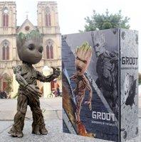 bebek avengers figürleri toptan satış-Sıcak Oyuncaklar Marvel Guardians Galaxy Avengers 1: 1 Sevimli Bebek Ağacı Adam BJD Eklemler Hareketli Action Figure Oyuncaklar 26 cm