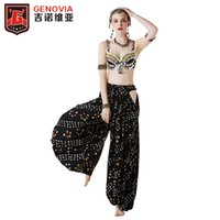 ingrosso reggiseno di danza di performance-Vendita calda Tribe Special Professional Belly Dancing Costumes 2PCS Bra Pants 2019 New Belly Dance Performance Costume S M L